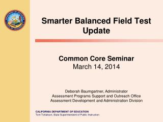Preparation for the Smarter Balanced Field Test