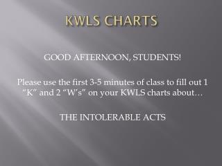 KWLS CHARTS