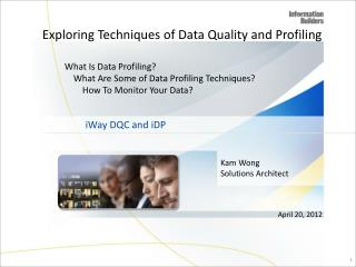 Exploring Techniques of Data Quality and Profiling