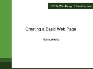 CS134 Web Design & Development
