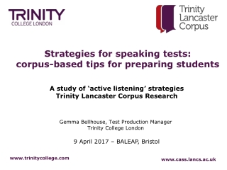 Strategies for speaking tests: corpus-based tips for preparing students