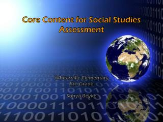 Core Content for Social Studies Assessment