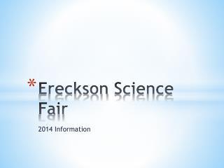 Ereckson Science Fair
