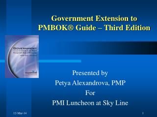 Government Extension to PMBOK® Guide – Third Edition