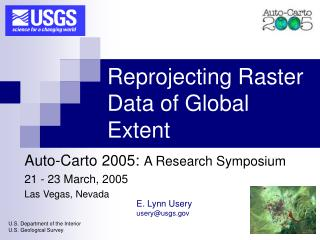 Reprojecting Raster Data of Global Extent
