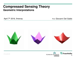 Compressed Sensing Theory Geometric Interpretations