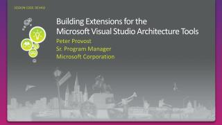 Building Extensions for the  Microsoft Visual Studio Architecture Tools