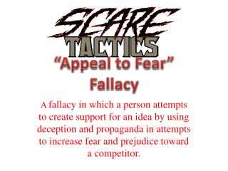 """Appeal to Fear"" Fallacy"