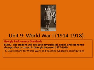 Unit 9: World War I (1914-1918)