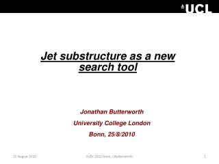 Jet subs tructure  as a new search tool