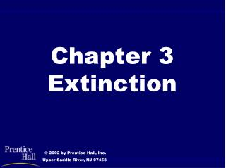 Chapter 3 Extinction