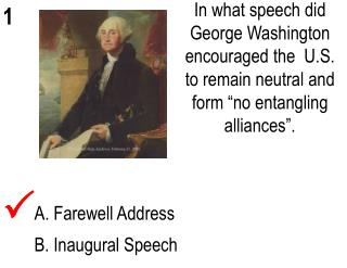 A. Farewell Address