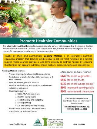 Promote Healthier Communities