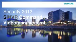 Security 2012 Si NVR  Command Videomanagement