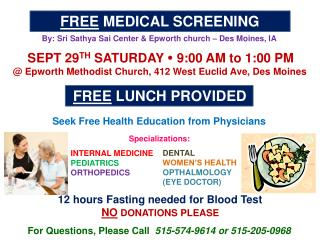 FREE  MEDICAL  SCREENING