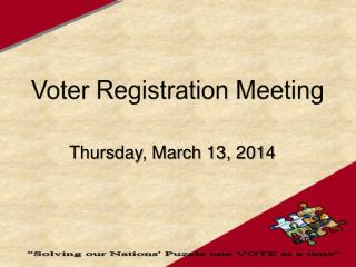 Voter Registration Meeting