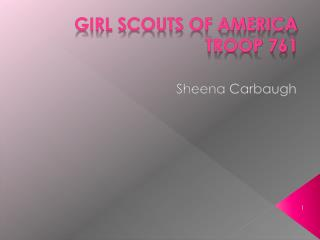Girl Scouts of America Troop 761