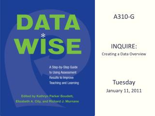 A310-G INQUIRE:  Creating a Data Overview Tuesday  January 11, 2011