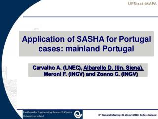 Application of SASHA for Portugal cases: mainland Portugal