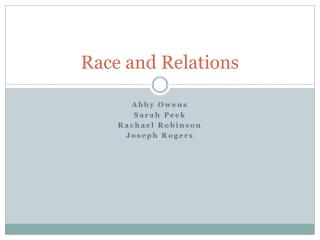 Race and Relations