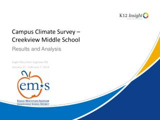 Campus Climate Survey –  Creekview  Middle School