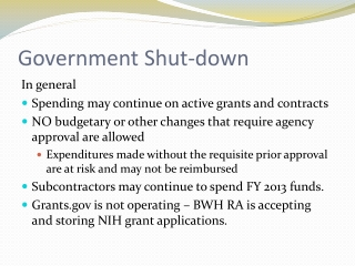 Government Shut-down