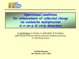 Operational conditions  for enhancement of collected charge via avalanche multiplication