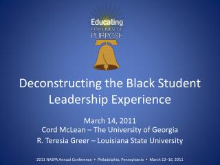 Deconstructing the Black Student Leadership Experience