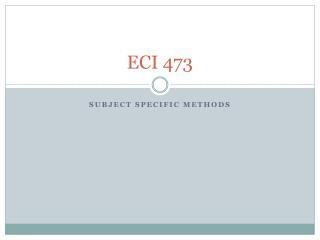 ECI 473