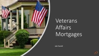 Veterans Affairs Mortgages