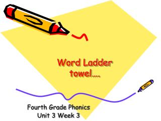 Word Ladder towel….