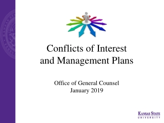 Conflicts of Interest and Management Plans