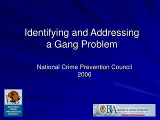Identifying and Addressing a Gang Problem
