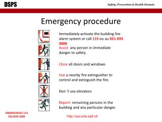 Emergency procedure