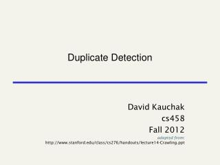 Duplicat e Detection