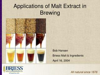 Applications of Malt Extract in Brewing