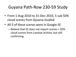 Guyana Path-Row 230-59 Study