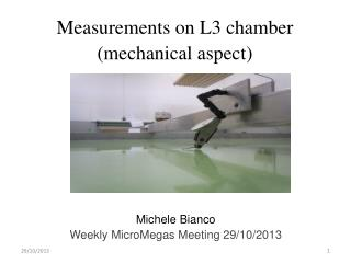 Measurements on L3 chamber (mechanical aspect)