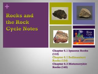 Rocks and the Rock Cycle Notes