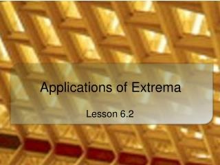 Applications of Extrema