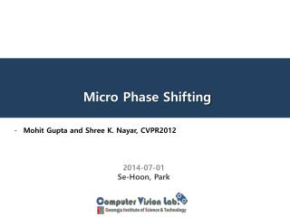 Micro Phase Shifting
