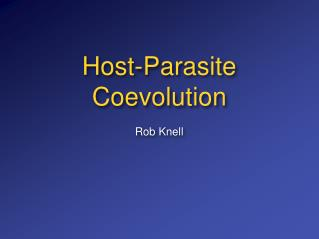 Host-Parasite Coevolution