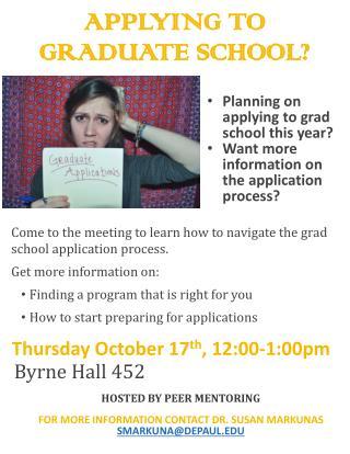 APPLYING  TO  Graduate  SCHOOL?