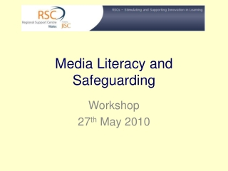 Media Literacy and Safeguarding