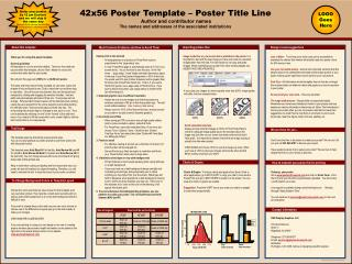 42x56 Poster Template – Poster Title Line