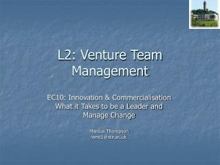 L2: Venture Team Management