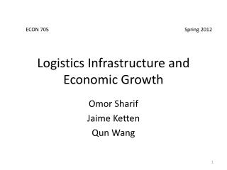 Logistics Infrastructure and Economic Growth