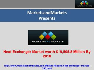 Heat Exchanger Market worth $19,505.8 Million By 2018