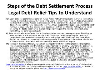 Legal Debt Settlement