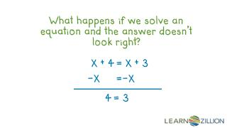 What happens if we solve an equation and the answer doesn't look right?